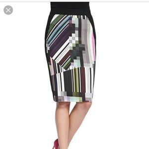 Trina Turk patterned pencil skirt